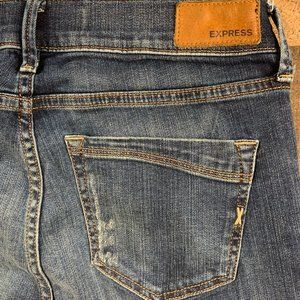 Express Jeans - Express Distressed Skinny Jean
